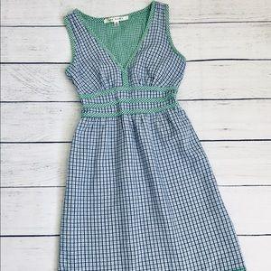 Max Studio mini gingham Babydoll Cotton Dress xs